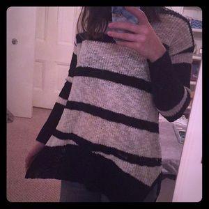 RUE 21 Black and White Striped Sweater
